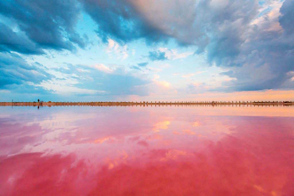 Розовые озера в Крыму: где находится, когда становится розовым?